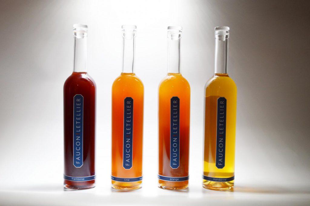 Les bouteilles de la maison Faucon-Letellier
